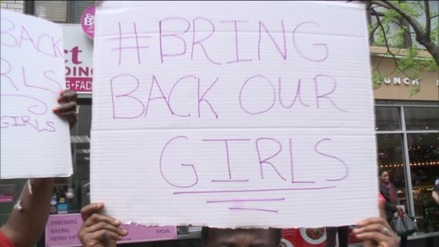 New Yorkers marched from a Harlem church to the Nigerian consulate in New York to protest the kidnappings of more than 270 girls by extremist group...
