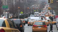 New YorkView of heavy traffic in the City Street of New York United States