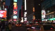 New YorkView of Times Square at night in New York United States