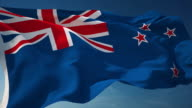 4K New Zealand Flag - Loopable
