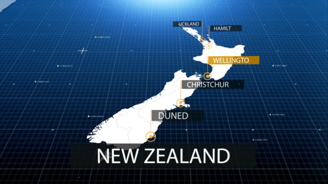 new zealand map with label then with out label