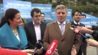 New Zealand prime minister Bill English campaigns ahead of next week's general election as the conservative National Party seeks a record equaling...