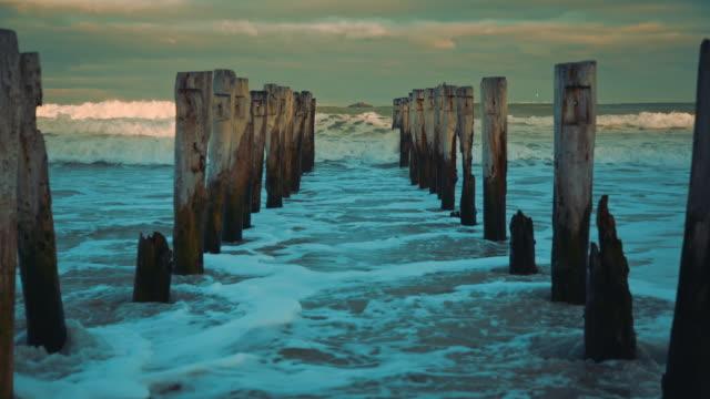 New Zealand - St. Clair Beach Piers