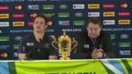 New Zealands All Blacks gave a press conference on Sunday after becoming the 2015 Rugby World Cup champions after they beat rivals Australia in...