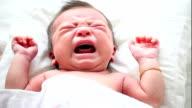 Neonato bambino piangere asiatica