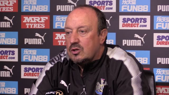 Newcastle boss Rafael Benitez speaking at his prematch press conference ahead of the team's Premier League trip to Southampton