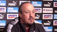 Newcastle boss Rafael Benitez speaking at his prematch press conference on Friday ahead of Sunday's Premier League opener against Tottenham