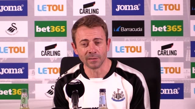 Newcastle coach Paco De Miguel Moreno speaks after the side beat Swansea 10 Manager Rafael Benitez was ill but Moreno says he was still communicating...