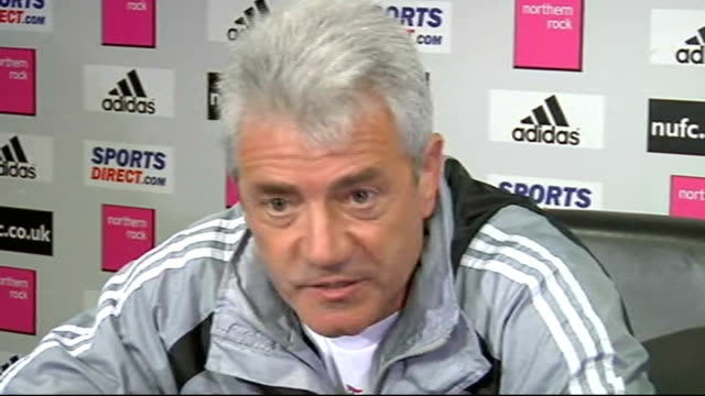 Keegan resigns as Manager INT Keegan press conference on Milner sale to Aston Villa SOT