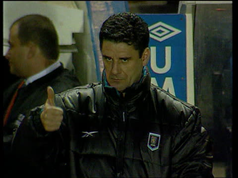 Newcastle United Search for New Manager ITN London Selhurst Park John Gregory giving thumbs up sign to press John Gregory on pitch at training session