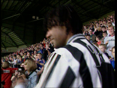 Newcastle United Search for New Manager LIB St James's Park GV Fans applauding Gullit on his appointment as manager Gullit facing fans as they...