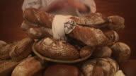 Newly baked bread.