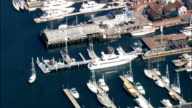 Newport Yacht Harbour  - Aerial View - Rhode Island, Newport County, United States