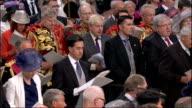 1100 1200 **Music heard SOT** Congregation singing 'O Praise ye the Lord' hymn SOT Princess Eugenie and Princess Anne Princess Royal singing Zara and...