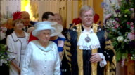 1200 1300 Mansion House INT Commonwealth Youth Choir Orchestra perform song watched by Queen Elizabeth SOT