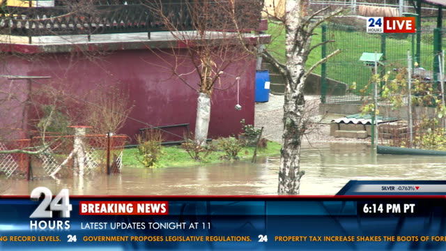 News Of Area Struck By Flood