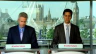 Ed Miliband press conference David Miliband and Ivan Lewis QA session David Miliband SOT re accusing PM of lying about what he was told about Coulson...
