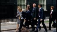 Dowler family arrive at Number 10 ENGLAND London Downing Street EXT Sally Dowler Bob Dowler and Gemma Dowler and legal representatives arriving at...