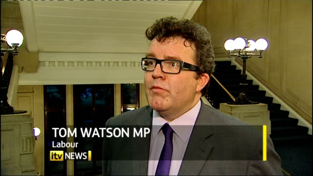 'News of the World' phone hacking scandal grows London Westminster INT Tom Watson MP interview SOT
