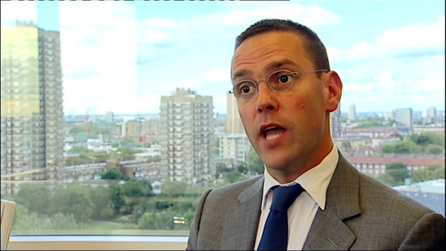 News of the World paper to close ENGLAND London INT James Murdoch interview SOT I am satisfied that Rebekah her leadership of this business and her...