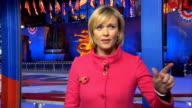 US Presidential Election 2012 0430 0530 USA New York New York City Rockefeller Plaza Julie Etchingham LIVE from New York