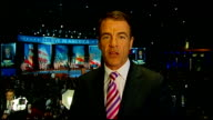 US Presidential Election 2012 0530 0620 Neely LIVE 2WAY interview from Romney camp in Boston SOT Chicago Moore LIVE 2WAY interview from Obama camp in...