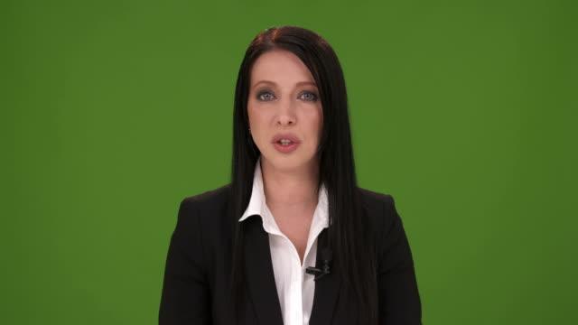 HD: Nachrichtensprecher liest die News Bulletin