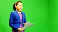 Newscaster Reading A News Bulletin
