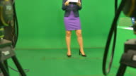 Newscaster Reading A News Bulletin