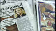 Newspaper articles about Queen's photoshoot with Annie Leibovitz