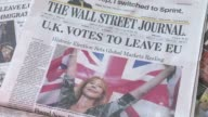 S newspaper front pages headline on Britain's vote to leave the EU despite dire warnings from world leaders and economic experts