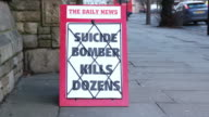Newspaper Headline Board - Suicide Bomber kills dozens