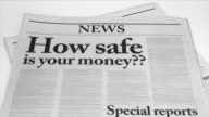 Newspaper Headlines with Bad Economic News