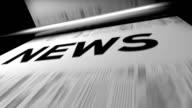 Neuigkeiten/Zeitungen drucken Animation. Endlos wiederholbar