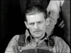 Newsreel / Audio of last captured man's statement only / Title card reads ROUGH ON RATS PATHE NEWS / Series of newspaper headlines about crime and...