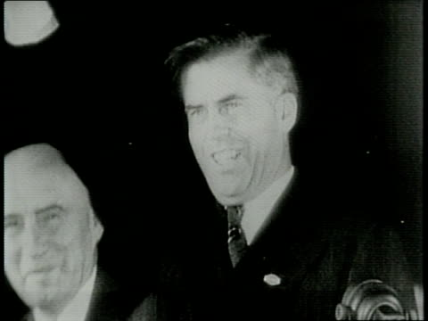 Newsreel / Narrated / Paramount News / Title card reads HOLLYWOOD WALLACE CAMPAIGNS / Henry Wallace Campaigns for Vice President in California / Vice...