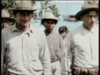 Newsreel / Narrated / US Marines arrive in Nicaragua upon request by Adolfo Dnaz to assist in stabilizing the region / The Nicaraguan National Guard...