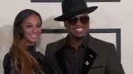NeYo and Crystal Renay at The 57th Annual Grammy Awards Red Carpet at Staples Center on February 08 2015 in Los Angeles California