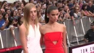 Niamh Adkins and Sara Sampaio at 'Mission Impossible Rogue Nation' New York Premiere at Times Square on July 27 2015 in New York City