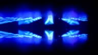 nice blue flames glowed