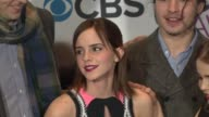 Nicholas Braun Emma Watson Ezra Miller Mae Whitman and Johnny Simmons Stephen Chbosky at People's Choice Awards 2013 Press Room on 1/9/2013 in Los...