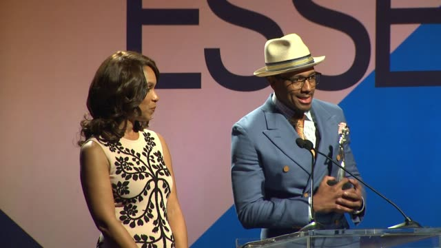 SPEECH Nick Cannon at 9th Annual ESSENCE Black Women In Hollywood Luncheon in Los Angeles CA