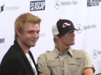 Nick Carter and Aaron Carter at the 3rd Annual Artist Empowerment Coalition PreGrammy Brunch at Beverly Hilton in Los Angeles CA