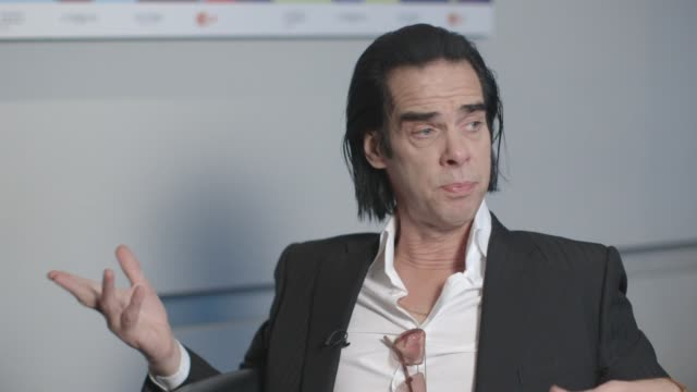 INTERVIEW Nick Cave on the title of the film at '20000 Days on Earth' Interview at Grand Hyatt Hotel on February 10 2014 in Berlin Germany