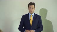 Nick Clegg announces his resignation from the Liberal Democrats Shows interior shot Nick Clegg speaking of the worrying fear grievance that political...