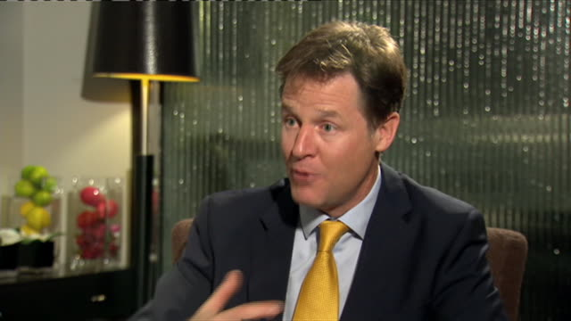 Nick Clegg commenting on party leaders apologising to voters during an interview at the 2014 Annual Liberal Democrat Party Conference