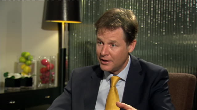 Nick Clegg commenting on voters choices during an interview at the 2014 Annual Liberal Democrat Party Conference