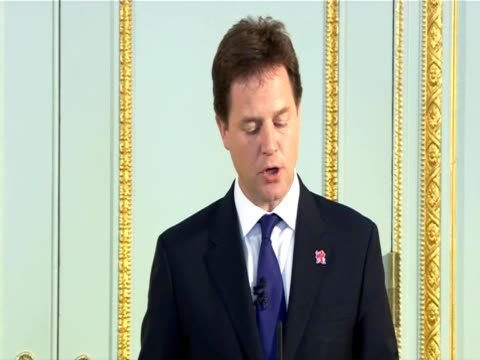 Nick Clegg discusses dissatisfaction with the Conservative Party at a press conference