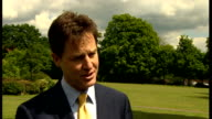 Nick Clegg interview and visit to Cypriot Community Centre Clegg interview SOT on local election chances