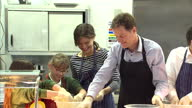Nick Clegg Miriam Durantez visit Ivy Lane School in Chippenham Shows interior shots Nick Clegg Miriam Durantez Duncan Hames working in the shool...